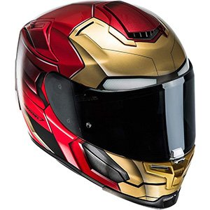 casco de moto de iron man